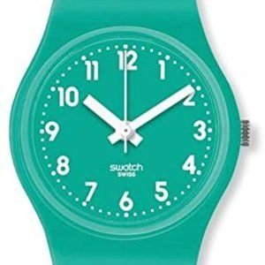 Swatch Mint leave rubber wrap, mint dial - NEW